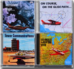 Covers of all four of Barry's audio CDs